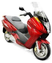 Left Side View, Red Scooter