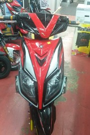 Front View, Red Scooter