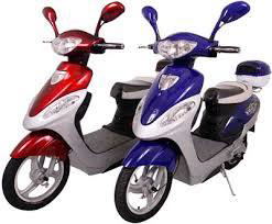 Red and Purple Scooters