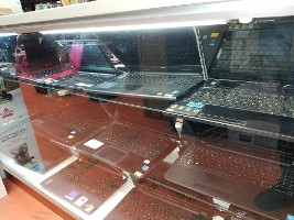 Glass Case of Lap Tops