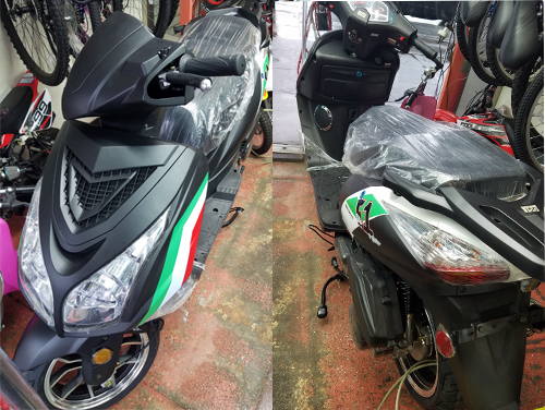 New 150CC Gas Scooter Front and Back Views